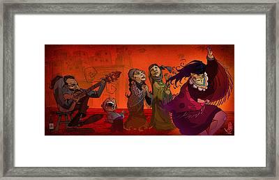 Bailando Arriba Framed Print by Nelson Dedos Garcia