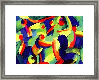 Baile Del Universo Framed Print by John Crespo Estrella