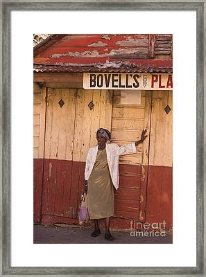 Bajan Lady Of Barbados Framed Print by Rene Triay Photography