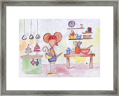 Bakery Mouse Framed Print by Sarah LoCascio