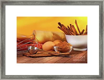 Baking Ingredients Framed Print by Sandra Cunningham