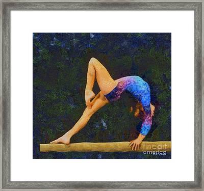 Balance Beam Framed Print by Elizabeth Coats
