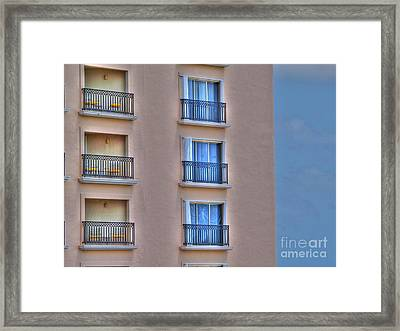 Balconies Framed Print by Jimmy Ostgard