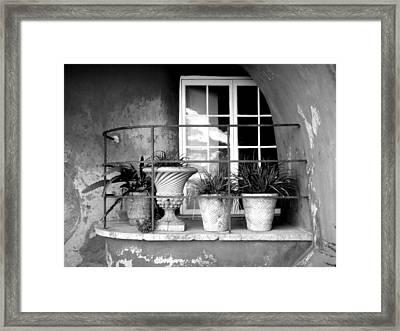 Balcony Framed Print by Roberto Alamino