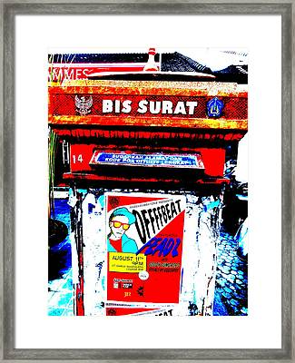 Bali Graffitied Funky Postbox Framed Print by Funkpix Photo Hunter