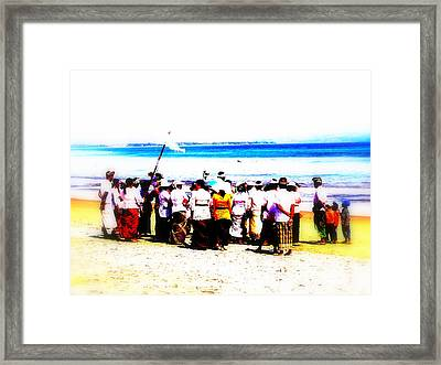 Balinese Beach In Mourning Framed Print by Funkpix Photo Hunter