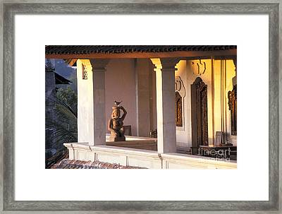 Balinese Guesthouse At Sunrise Framed Print by Gordon Wood