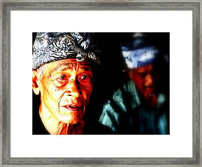 Balinese Old Man Framed Print by Funkpix Photo Hunter