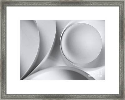 Ball And Curves 04 Framed Print by Nailia Schwarz