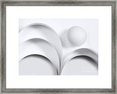 Ball And Curves 05 Framed Print by Nailia Schwarz