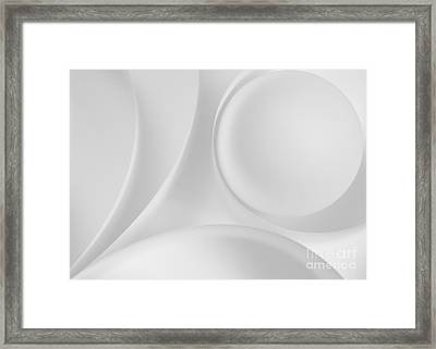 Ball And Curves 08 Framed Print by Nailia Schwarz