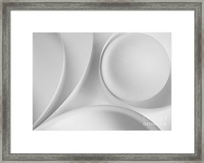 Ball And Curves 09 Framed Print by Nailia Schwarz