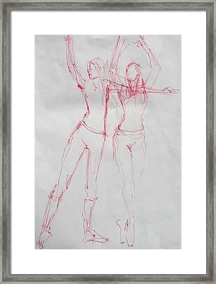 Ballerina 8040 Framed Print by Elizabeth Parashis