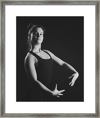 Ballerina Framed Print by Marcio Faustino