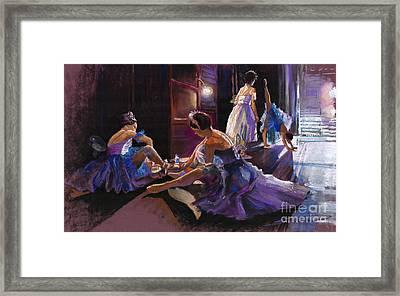 Ballet Behind The Scenes Framed Print by Yuriy  Shevchuk