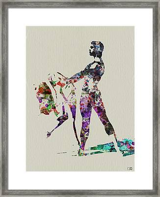 Ballet Dance Framed Print by Naxart Studio