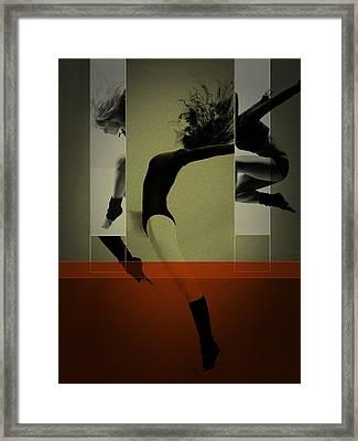 Ballet Dancing Framed Print by Naxart Studio