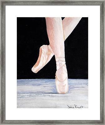 Ballet Shoes Framed Print by Julie Kraft