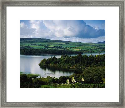 Ballindoon Abbey, Lough Arrow, Co Framed Print by The Irish Image Collection