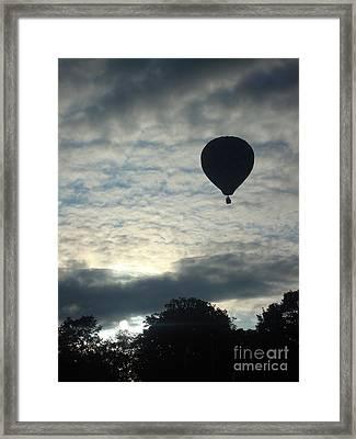 Balloon Shadow Framed Print by Tina McKay-Brown