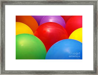 Balloons Background Framed Print by Carlos Caetano