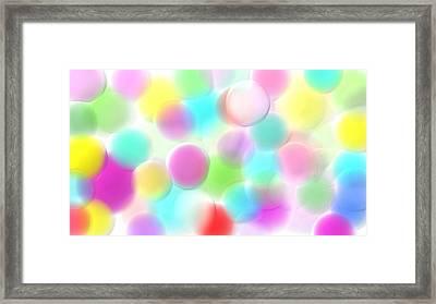 Balloons In The Sky Framed Print by Rosana Ortiz
