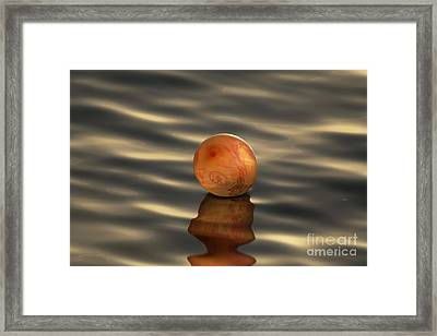 Balloons On The Water Framed Print by Odon Czintos