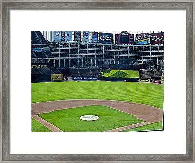 Ballpark Framed Print by Malania Hammer