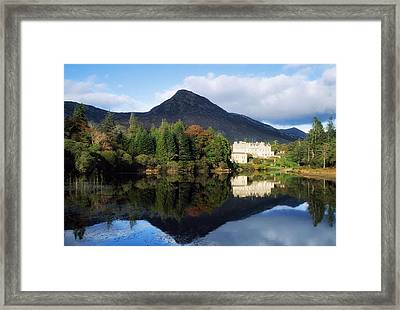 Ballynahinch Castle Hotel, Twelve Bens Framed Print by The Irish Image Collection
