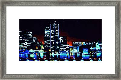 Baltimore By Black Light Framed Print by Thomas Kolendra