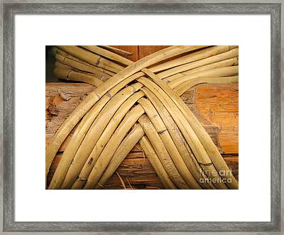 Bamboo And Wood Construction Framed Print by Yali Shi
