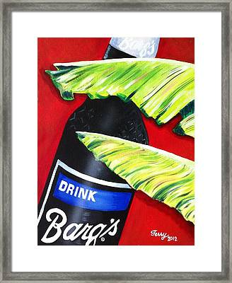 Banana Leaf Series - Barq's Rootbeer Framed Print by Terry J Marks Sr