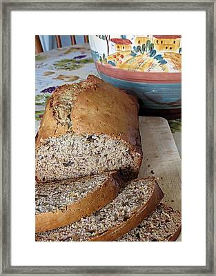Banana Nut Bread Framed Print by Janice Drew