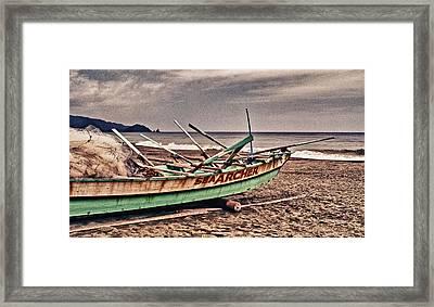 Banca Boat 2 Framed Print by Skip Nall