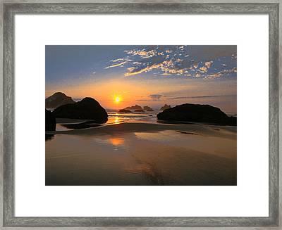 Bandon Scenic Framed Print by Jean Noren