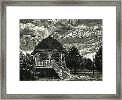 Bandstand On The Commons Framed Print by Robert Goudreau