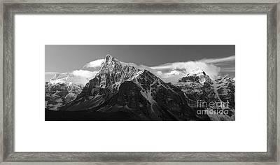 Banff Mountain Range Framed Print by Keith Kapple