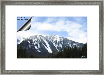 Banff Ski Runs Framed Print by Wayne Bonney