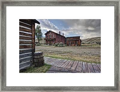 Bannack Ghost Town Mainstreet 2 - Montana Framed Print by Daniel Hagerman