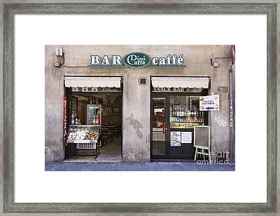 Bar Caffe Framed Print by Jeremy Woodhouse