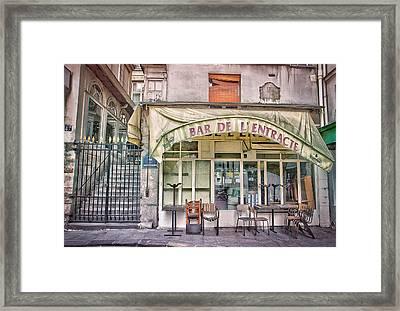 Bar De L'entracte Framed Print by Stephanie Benjamin