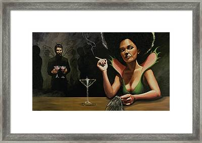 Bar Fly Framed Print by Joe Pagac