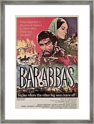 Barabbas, From Left, Anthony Quinn Framed Print by Everett