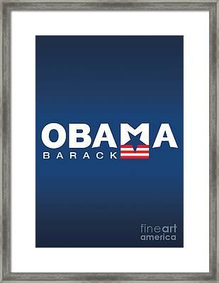 Barack Obama Framed Print by Darren Burroughs