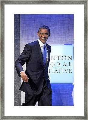 Barack Obama In Attendance For Annual Framed Print by Everett