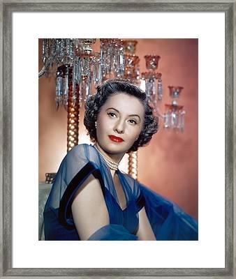 Barbara Stanwyck, 1950s Framed Print by Everett