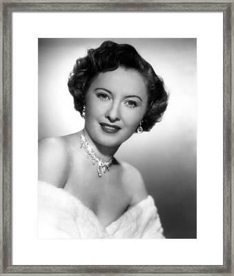 Barbara Stanwyck, 72750 Framed Print by Everett