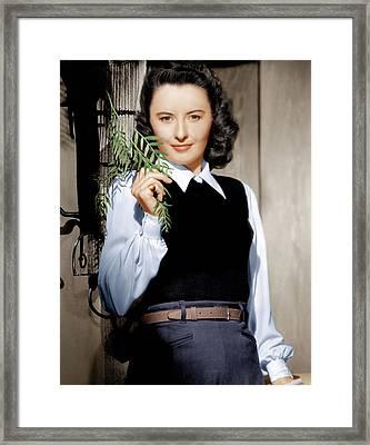 Barbara Stanwyck, Ca. 1947 Framed Print by Everett