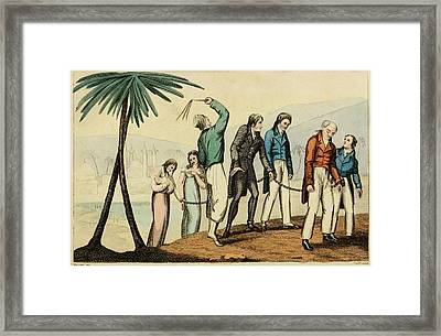 Barbary Pirates Taking Their Chained Framed Print by Everett
