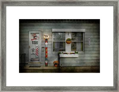 Barber - Belvidere Nj - A Family Salon Framed Print by Mike Savad